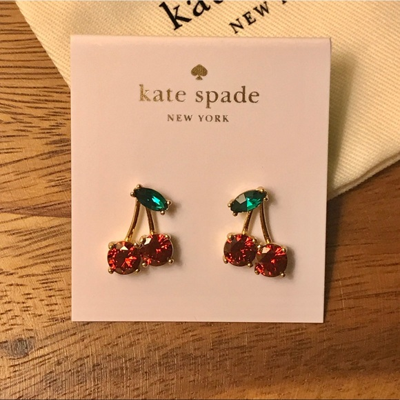 4c9af558786342 kate spade Jewelry | New Cherry Earrings 14k Gold Plated | Poshmark